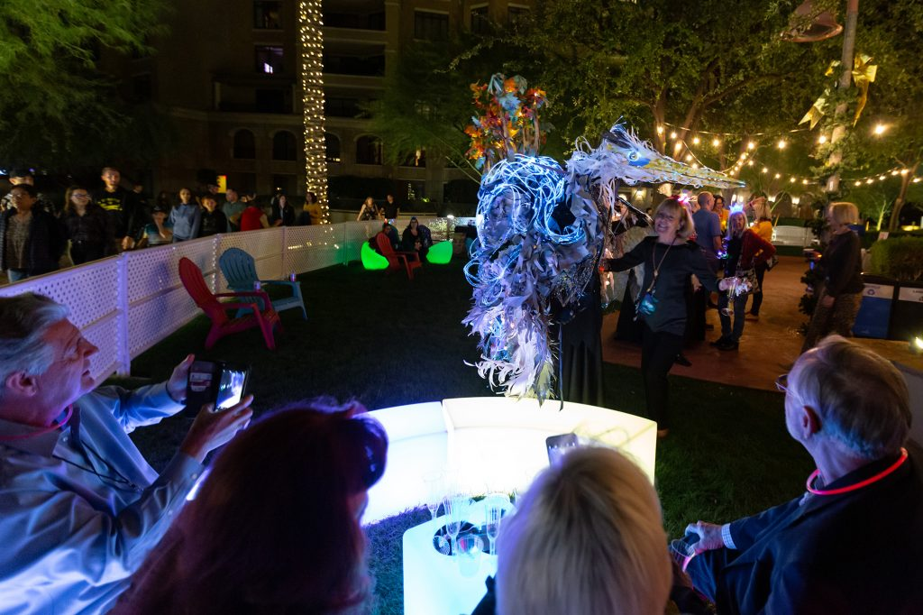 Performance artist Katharine Leigh Simpson presents Earthly during a VIP event at Scottsdale Public Art's Canal Convergence | Water + Art + Light 2019. Photo: Andrew Pielage